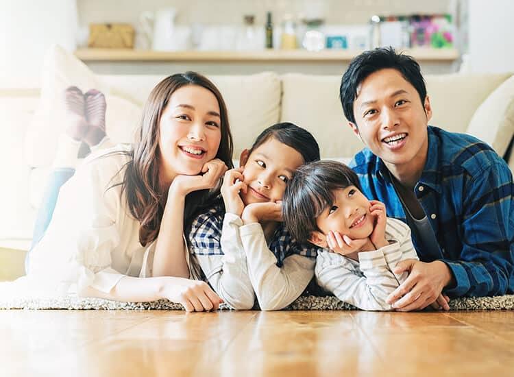 注文住宅と家族のイメージ